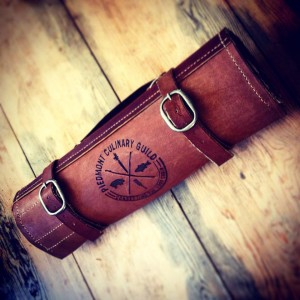 Hand-Tooled Leather Knife Roll crafted by Small Clay Farm's Brad Todd