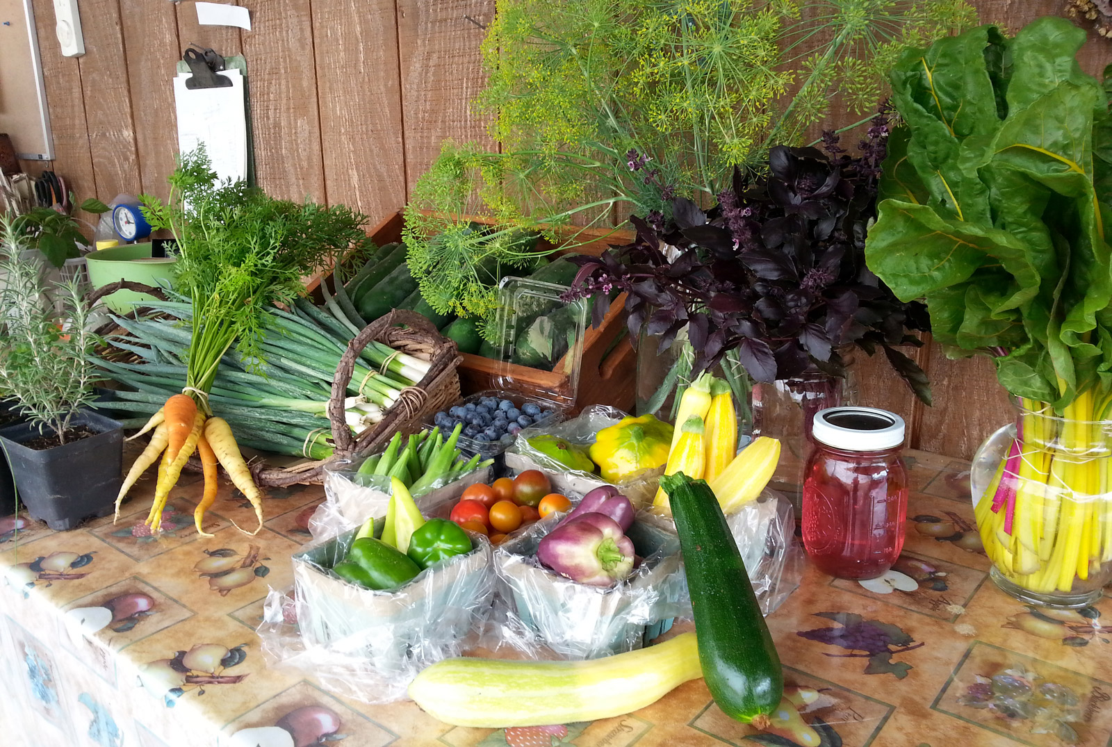 Small sample of the bounty from Mary Robert's Windcrest Farm