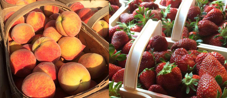 Barbee Farms Strawberries and Peaches